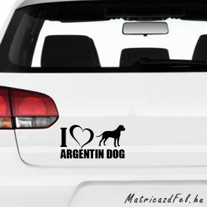 Argentin dog matrica