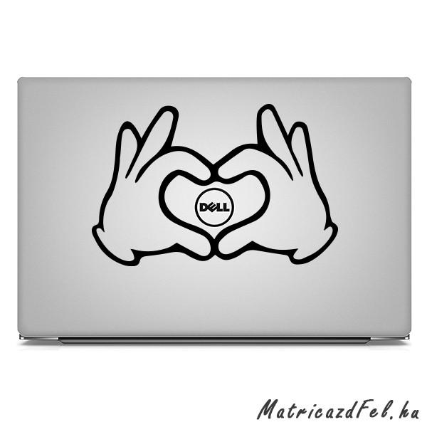 dbb90f102d5f Kéz szív laptop matrica - MatricazdFel matrica webáruház