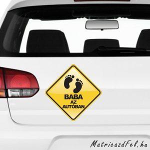 Baba az autóban matrica 3