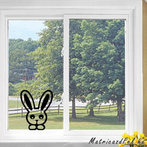 Nyúl az ablakban matrica