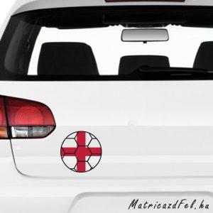 Focilabda zászló matrica - Anglia