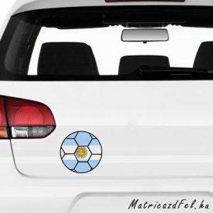 Focilabda zászló matrica - Argentína