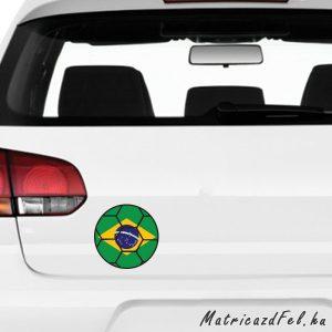 Focilabda zászló matrica – Brazília