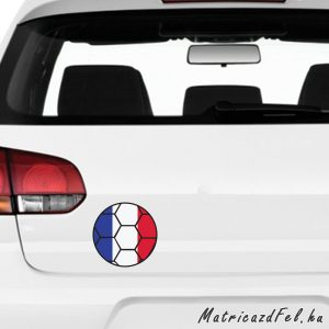 Focilabda zászló matrica – Franciaország
