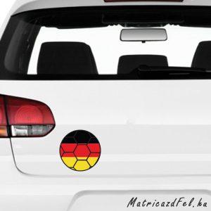 Focilabda zászló matrica – Németország