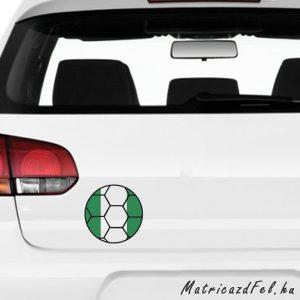 Focilabda zászló matrica – Nigéria