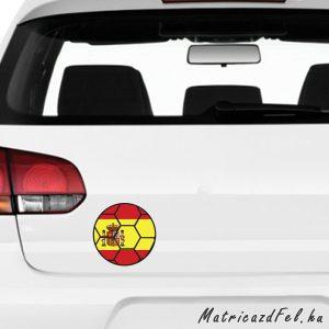 Focilabda zászló matrica - spanyolország
