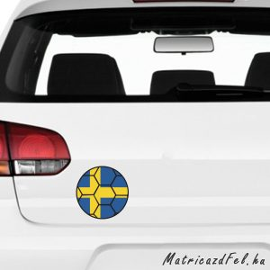 Focilabda zászló matrica – Svédország