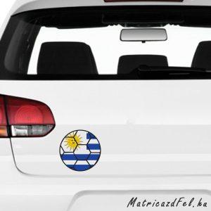 Focilabda zászló matrica – Uruguay