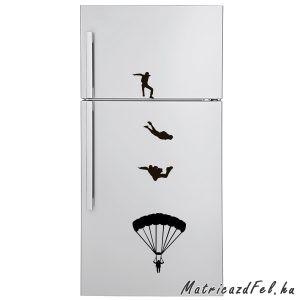 Ejtőernyős hűtő matrica