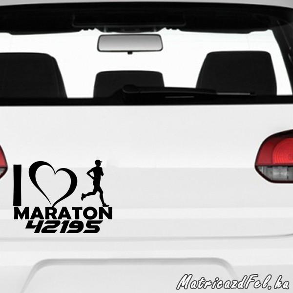 Maraton futás matrica fiú